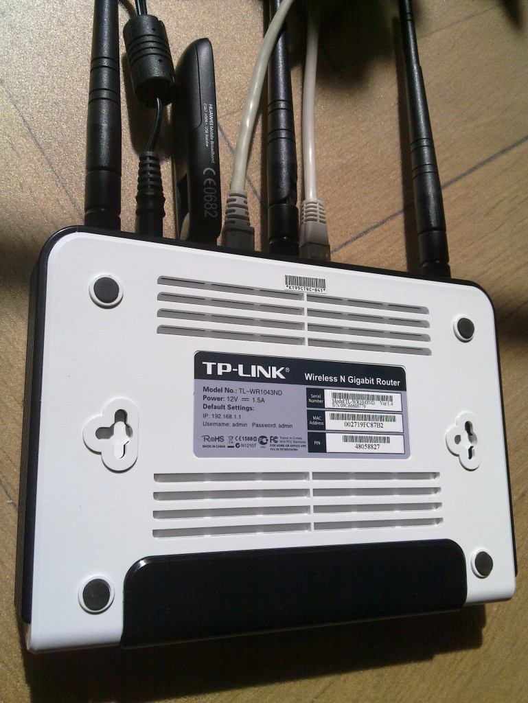OpenWRT with Huawei E367 and TP-Link TL-WR1043ND – Simon Josefsson's
